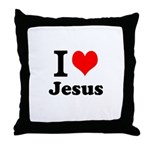 I Heart Jesus Throw Pillow