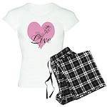 Love Pink Roses Women's Light Pajamas