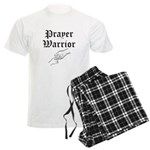 Prayer Warrior w/hands Men's Light Pajamas