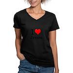 I heart Jesus Women's V-Neck T-Shirt