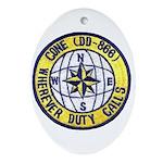 USS CONE Ornament (Oval)