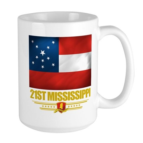 21st Mississippi Infantry Large Mug
