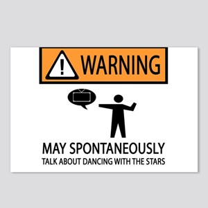 Spontaneously Talk Dancing With the Stars Postcard
