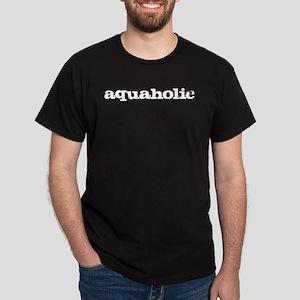 aquaholic - white Dark T-Shirt