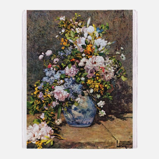 Bouquet of Spring Flowers Throw Blanket