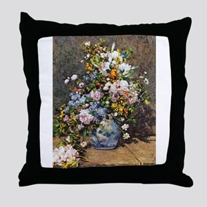 Bouquet of Spring Flowers Throw Pillow