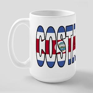 Costa Rica Soccer Flag  Large Mug