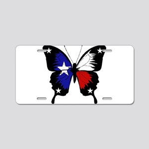 Texas Butterfly Aluminum License Plate