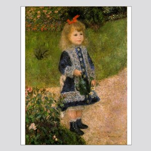 Girl with Watering Can Small Poster