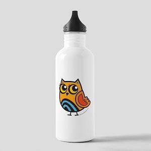 Orange+Blue Owl Stainless Water Bottle 1.0L