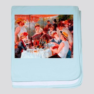 Luncheon of the Boating Party baby blanket