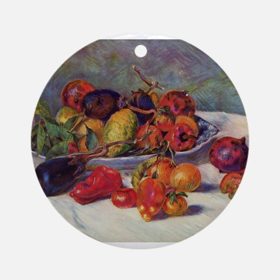 Still Life With Fruit Ornament (Round)