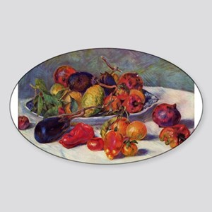 Still Life With Fruit Sticker (Oval)