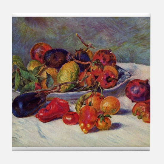 Still Life With Fruit Tile Coaster