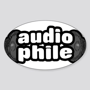 """The Audiophile"" Oval Sticker"