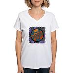 Women's V-Neck T-Shirt - Repatterning
