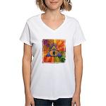 Women's V-Neck T-Shirt - Teleportation