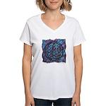 Women's V-Neck T-Shirt - The Flower of Life