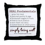 REAL Foodamentals Throw Pillow