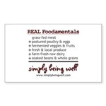 REAL Foodamentals Sticker (Rectangle 10 pk)