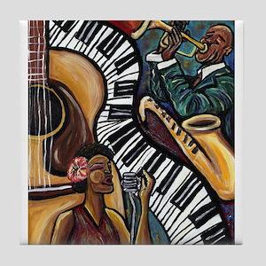 All That Jazz Tile Coaster