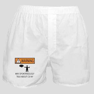 Spontaneously Talk CSI New York Boxer Shorts