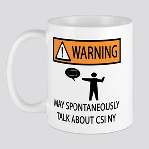 Spontaneously Talk CSI New York Mug
