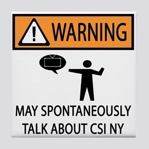 Spontaneously Talk CSI New York Tile Coaster
