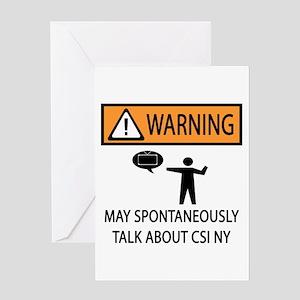 Spontaneously Talk CSI New York Greeting Card