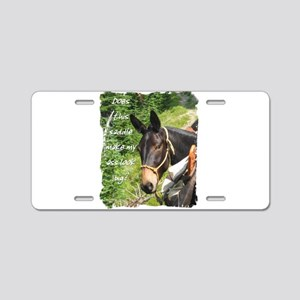 Mule Aluminum License Plate