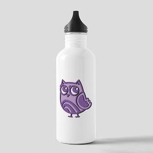 Purple Owl Stainless Water Bottle 1.0L