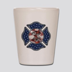 Firefighter USA Shot Glass