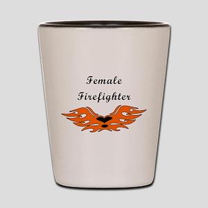 Female Firefighters Shot Glass