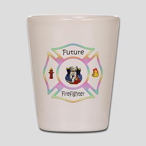 Future Firefighter Pastel Shot Glass