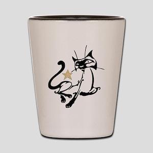 Siamese Cat Royalty Shot Glass