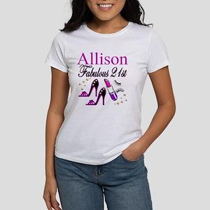 DAZZLING 21ST Women's Classic White T-Shirt