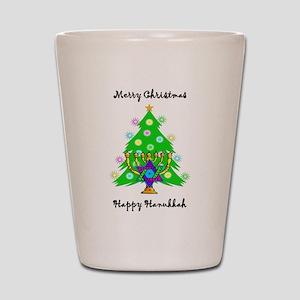 Hanukkah and Christmas Interfaith Shot Glass