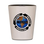 Recycle World Shot Glass