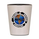 Recycle World Shot Glass