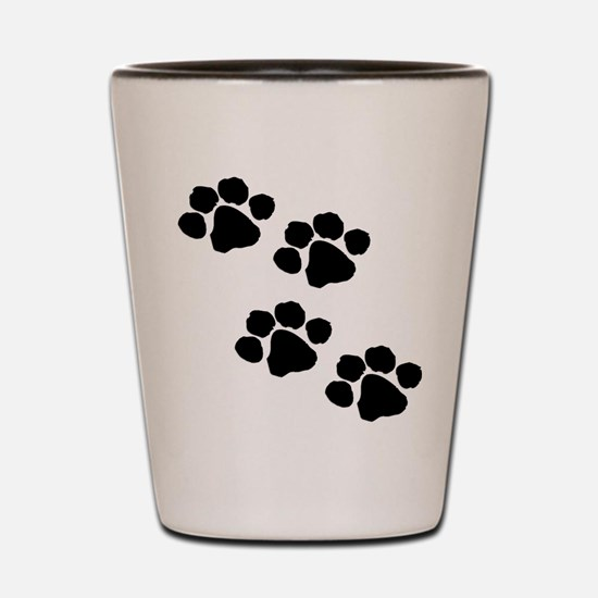 Pet Paw Prints Shot Glass