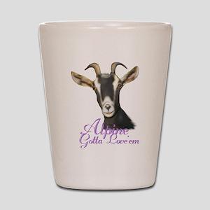 Alpine Goat Gotta Love'em Shot Glass