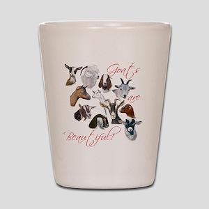 Goats are Beautiful Shot Glass