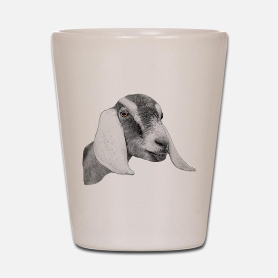 Nubian Goat Sketch Shot Glass