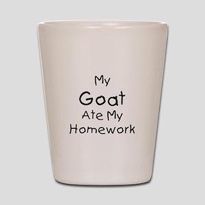 My Goat ate Homework Shot Glass