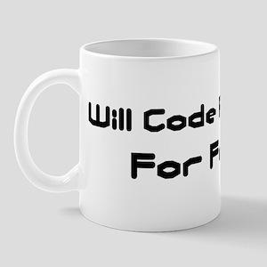 Will Code Python For Food Mug