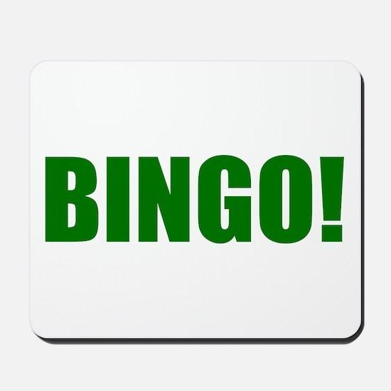BINGO! green-text Mousepad