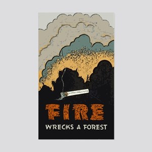 """""""Fire Wrecks a Forest"""" Rectangle Sticker"""