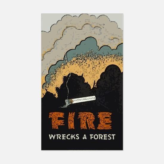 """""""Fire Wrecks a Forest"""" Rectangle Decal"""
