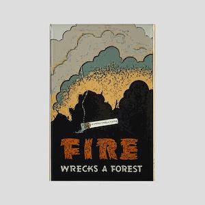 """""""Fire Wrecks a Forest"""" Rectangle Magnet"""