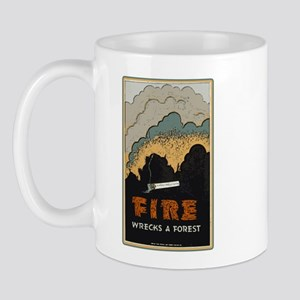 """Fire Wrecks a Forest"" Mug"